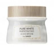 Крем осветляющий с эффектом сияния THE SAEM Pure White Brightening Cream 80мл: фото