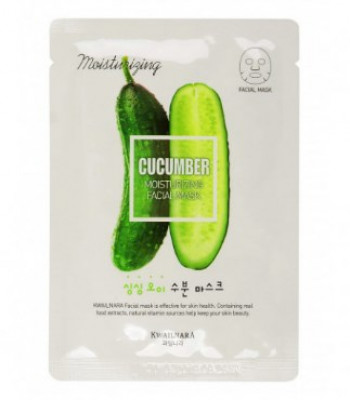 Маска для лица увлажняющая Welcos Kwailnara Cucumber Moisturizing Facial Mask: фото