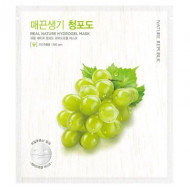 Маска для лица гидрогелевая NATURE REPUBLIC REAL NATURE GREEN GRAPE HYDROGEL MASK 22г: фото
