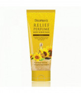 Скраб для тела с маслом семян подсолнуха DEOPROCE RELIEF PERFUME BODY SCRUBWASH - YELLOW 200гр: фото