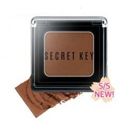 Тени для век моно SECRET KEY Fitting Forever Single Shadow #Milk Chocolate (Red Brown) 2,5г