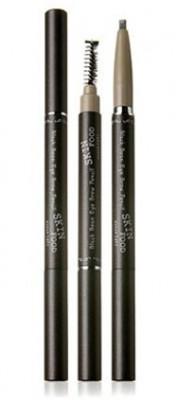 Карандаш для бровей SKINFOOD BLACK EYE BROW PENCIL #5: фото