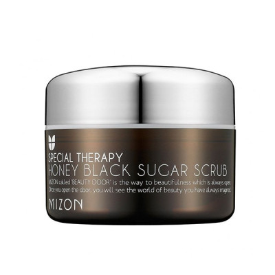 Скраб с черным сахаром MIZON Honey Black Sugar Scrub 90мл: фото