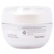 Осветляющий крем Tony Moy Intense Care Gold 24K Snail Whitening Cream 50 мл: фото