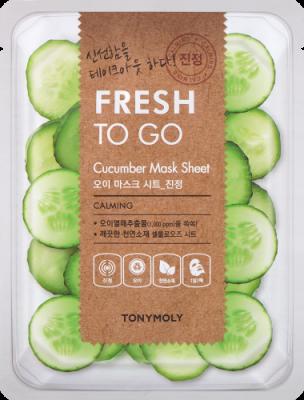 Освежающая тканевая маска для лица с экстрактом огурца Tony Moly Fresh To Go Cucumber Mask Sheet 20г: фото