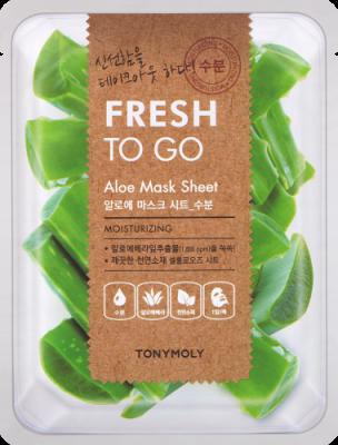 Освежающая тканевая маска для лица с экстрактом алое вера Tony Moly Fresh To Go Aloe Mask Sheet 20г: фото