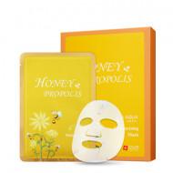 Увлажняющая маска для лица с экстрактом прополиса и меда SNP Honey &Propolis Moisturizing Mask 25 мл: фото