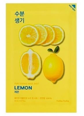 Маска тканевая тонизирующая лимон Holika Holika Pure Essence Mask Sheet Lemon 20мл: фото