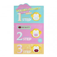 Набор для ухода за губами Holika Holika Golden Monkey Glamour Lip 3-Step Kit: фото