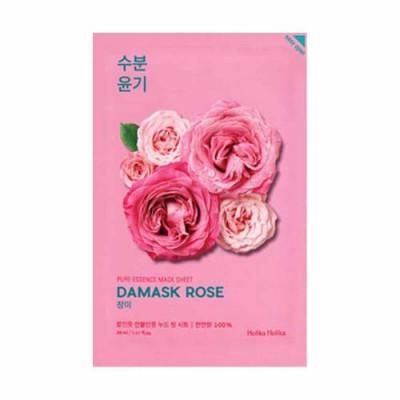 Маска тканевая увлажняющая с розой Holika Holika Pure Essence Mask Sheet Damask Rose 20 мл: фото