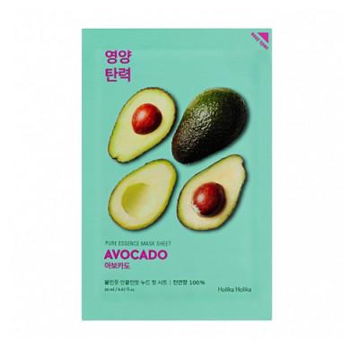 Маска тканевая смягчающая с авокадо Holika Holika Pure Essence Mask Sheet Avocado 20 мл: фото