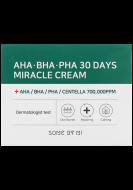 Крем с AHA/BHA/PHA кислотами для проблемной кожи SOME BY MI AHA-BHA-PHA 30 DAYS MIRACLE CREAM 60г