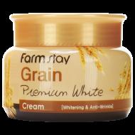 Осветляющий крем с маслом ростков пшеницы FARMSTAY GRAIN PREMIUM WHITE CREAM 100г: фото