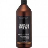 Шампунь с солодом и пивными дрожжами Redken Brews Extra Clean 1000мл: фото
