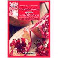 Тканевая маска Антивозрастная с экстрактом граната LEBELAGE Pomegranate Natural Mask: фото