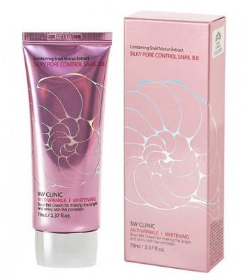 ВВ крем с улиточным муцином 3W CLINIC Silky Pore Control BB Cream
