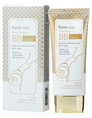 Восстанавливающий ВВ-крем с улиточным муцином FarmStay Snail Repair BB Cream SPF50+/PA+++