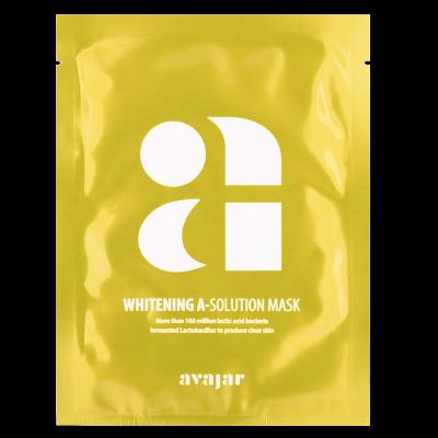 Маска осветляющая тканевая для лица Avajar Whitening A-Solution Mask 10 шт: фото