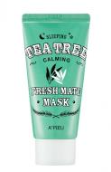 Маска для лица ночная A'PIEU Fresh Mate Tea Tree Mask (Calming) 50мл: фото
