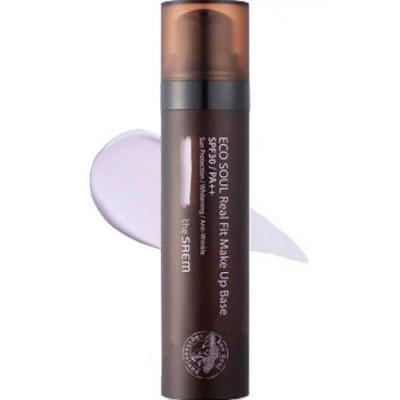 База под макияж THE SAEM Eco Soul Real Fit Makeup Base 02 Larvender 40мл