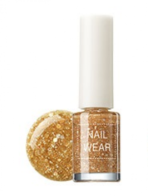 Лак для ногтей THE SAEM Nail wear 39. Luxury Orange gold 7мл