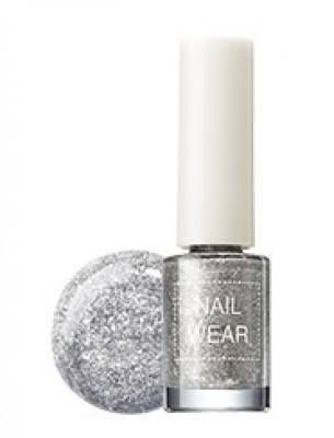 Лак для ногтей THE SAEM Nail wear 38. Silver Dia 7мл