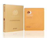Маска гидрогелевая PETITFEE Gold&Snail Transparent Gel Mask Pack 5шт: фото