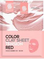 Маска для лица глиняная листовая Berrisom G9SKIN COLOR CLAY SHEET TENSION RED 20г: фото