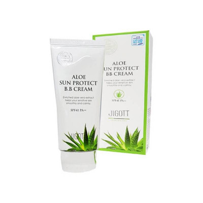 ВВ-крем с экстрактом алоэ JIGOTT Aloe Sun Protect BB Cream Spf41 Pa++