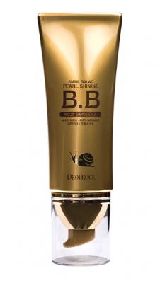 BB-Крем сияющий с муцином улитки DEOPROCE SNAIL GALAC PEARL SHINING BB №23 40г: фото