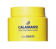 Крем для лица поросужающий охлаждающий THE SAEM Calamansi Pore Cool Down Cream 100мл: фото