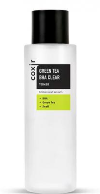 Тонер с зеленым чаем и BHA COXIR Greentea BHA Clear Toner 150мл: фото