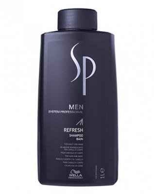 Шампунь освежающий мужской System Professional Wella Refresh Shampoo MEN 1000 мл: фото