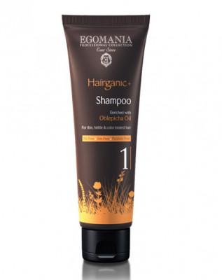 Шампунь с маслом облепихи для тонких, ломких и окрашенных волос Egomania Hairganic+ Оblepicha Оil 250мл: фото