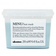 Маска восстанавливающая для окрашенных волос Davines MINU hair mask 250мл: фото