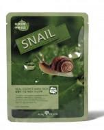 Маска тканевая с муцином улитки May Island Real Essence Snail Mask Pack 25мл: фото