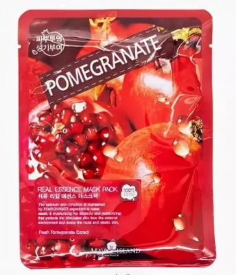 Маска тканевая с гранатом May Island Real Essence Pomegranate Mask Pack 25мл