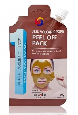 Маска-пленка очищающая Eyenlip VOLCANIC PORE PEEL OFF PACK POCKET 25г: фото