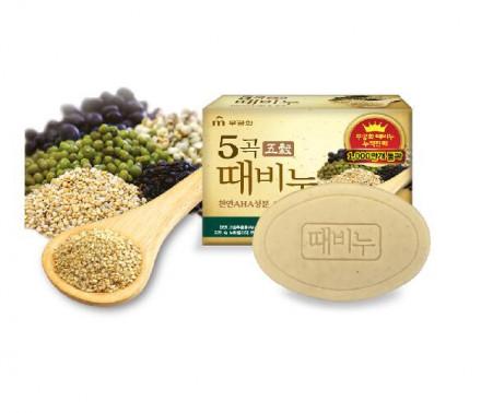 Мыло-скраб пять злаков Mukunghwa Five Grains Scrub Soap 100г: фото