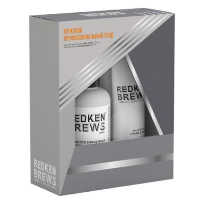 Набор для бритья мужской Redken Brews: Крем для бритья150 мл + Бальзам после бритья АФТЕРШЕЙВ 125 мл: фото