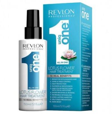Спрей-маска для ухода за волосами с ароматом лотоса Revlon Professional UNIQONE HAIR LOTUS TREATMENT 150мл: фото