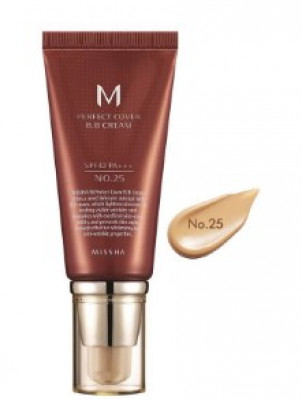 Тональный крем MISSHA M Perfect Cover BB Cream SPF42/PA+++ No.25/Warm Beige 50ml