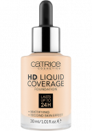 Тональная основа CATRICE HD Liquid Coverage Foundation 002 Porcelain Beige