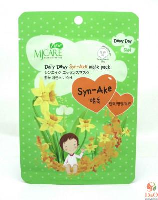 Маска тканевая со змеиным ядом Mijin Care Daily Dewy Syn-Ake mask pack 25г: фото