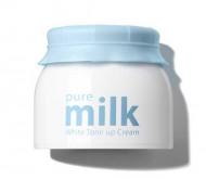 Крем осветляющий THE SAEM Pure Milk White Tone Up Cream 50мл: фото