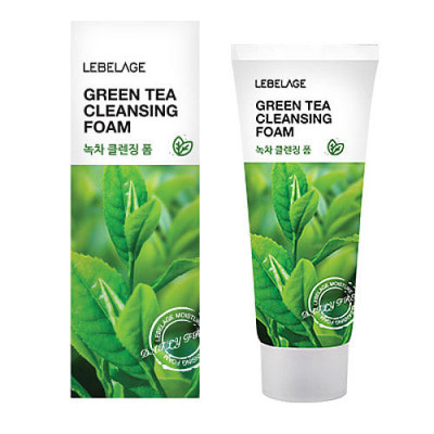Пенка для умывания с экстрактом зеленого чая LEBELAGE Cleansing Green Tea Foam 100мл: фото
