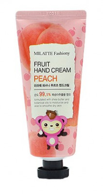 Крем для рук персик MILATTE FASHIONY FRUIT HAND CREAM PEACH 60г: фото