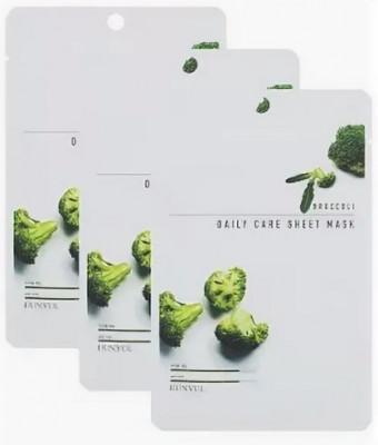 Набор Тканевых масок с экстрактом брокколи EUNYUL BROCCOLI DAILY CARE SHEET MASK 22г*3шт: фото