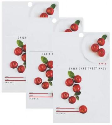 Набор Тканевых масок с экстрактом яблока EUNYUL APPLE DAILY CARE SHEET MASK 22г*3шт: фото