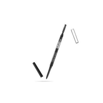Карандаш для бровей PUPA HIGH DEFINITION EYEBROW PENCIL тон 004 Экстра-темный